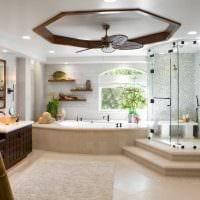 вариант красивого дизайна большой ванной фото