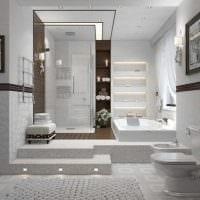 идея красивого стиля большой ванной картинка