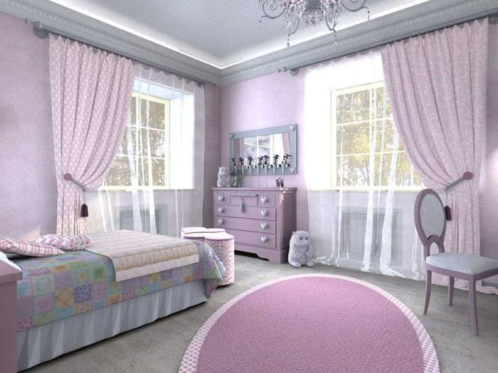 идея яркого декора детской комнаты для девочки