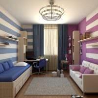 идея красивого стиля детской комнаты для двух мальчиков картинка