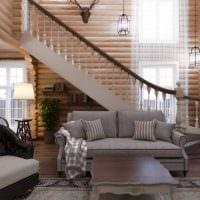 идея яркого интерьера дома со вторым светом фото