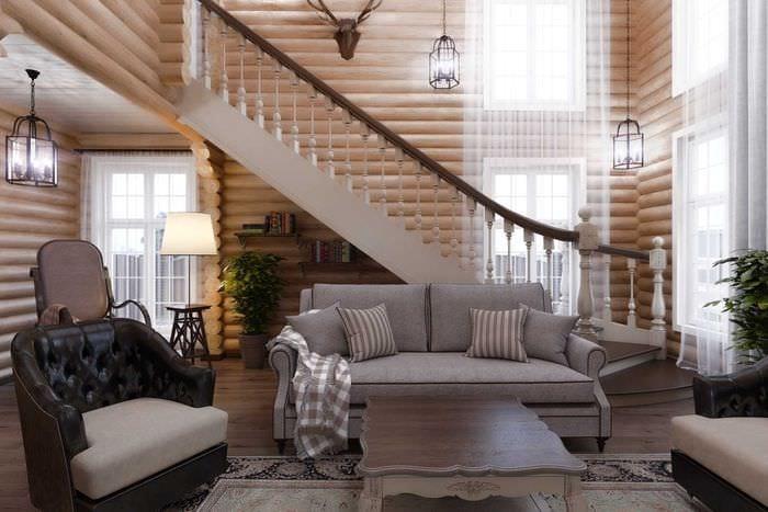 данный интерьеры деревянных коттеджей в картинках закуски