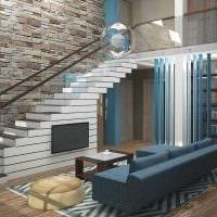 вариант необычного стиля квартиры со вторым светом картинка