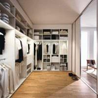 идея необычного дизайна гардеробной комнаты фото