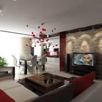 идея красивого дизайна гостиной комнаты в современном стиле картинка
