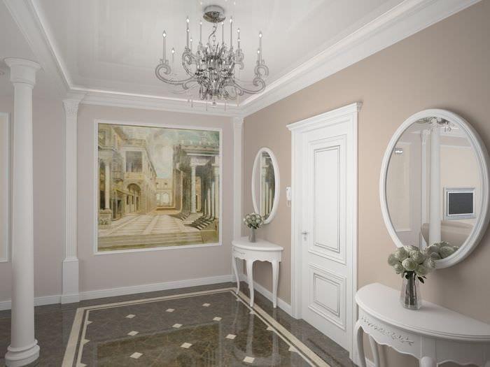 идея красивого стиля квартиры в стиле современная классика