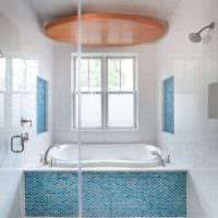 вариант современного дизайна ванной комнаты 2017 картинка