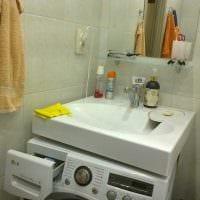 вариант красивого стиля ванной 2.5 кв.м фото