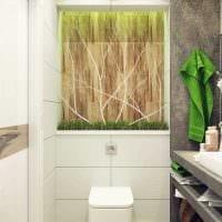 идея яркого стиля ванной комнаты 4 кв.м фото