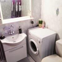 вариант современного интерьера ванной 4 кв.м картинка