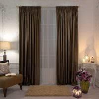 вариант сочетания светлого коричневого цвета в интерьере спальни фото