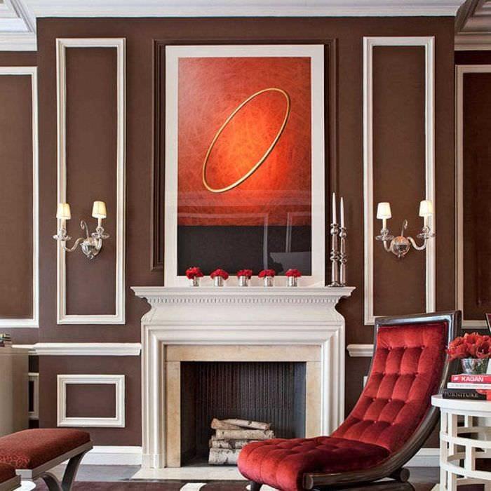 вариант сочетания светлого коричневого цвета в дизайне кухни