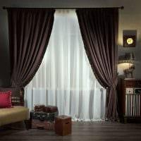вариант сочетания светлого коричневого цвета в дизайне гостиной фото