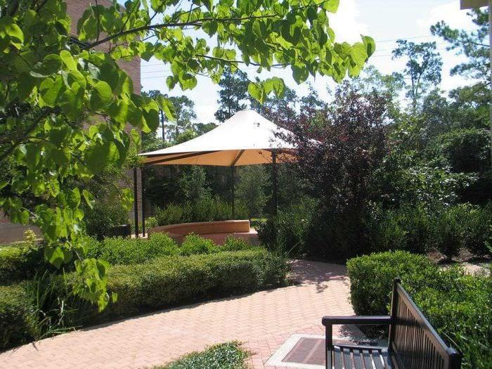 вариант красивого декорирования двора
