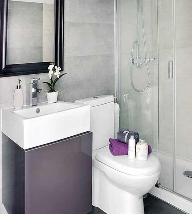 идея красивого дизайна ванной 2.5 кв.м