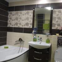 идея красивого стиля ванной комнаты с угловой ванной картинка