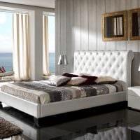 вариант современного дизайна спальни в белом цвете фото
