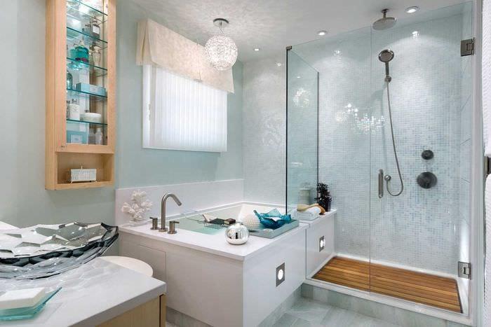 вариант современного дизайна большой ванной
