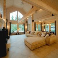 вариант красивого интерьера дома со вторым светом картинка