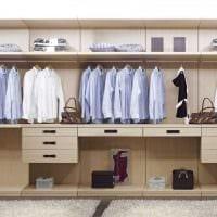 идея современного стиля гардеробной фото