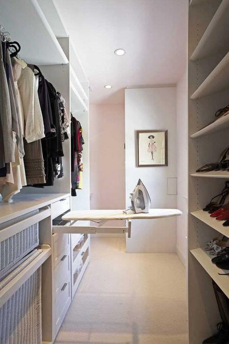 идея красивого стиля гардеробной