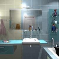 вариант яркого дизайна ванной 2.5 кв.м картинка
