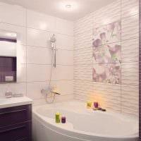 идея красивого интерьера ванной комнаты 2.5 кв.м фото