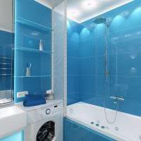 идея яркого интерьера ванной комнаты 4 кв.м картинка