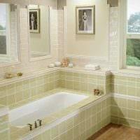 идея необычного интерьера ванной комнаты с окном фото