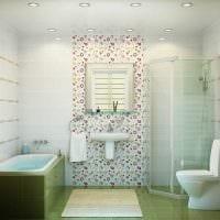 вариант современного стиля ванной комнаты с окном картинка