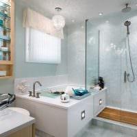 вариант современного дизайна большой ванной фото