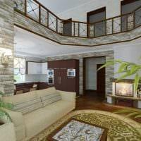 вариант красивого стиля квартиры со вторым светом картинка