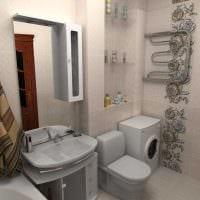 идея яркого интерьера ванной 2.5 кв.м фото