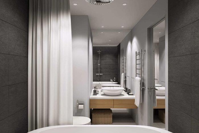 вариант яркого дизайна ванной 4 кв.м