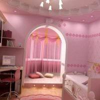 идея красивого декора детской для девочки картинка