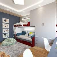 идея светлого декора детской комнаты для двух мальчиков картинка
