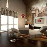 идея необычного дизайна зала в частном доме картинка