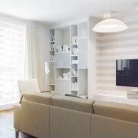 идея необычного интерьера квартиры в светлых тонах в современном стиле фото