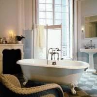 идея яркого дизайна ванной комнаты в классическом стиле картинка