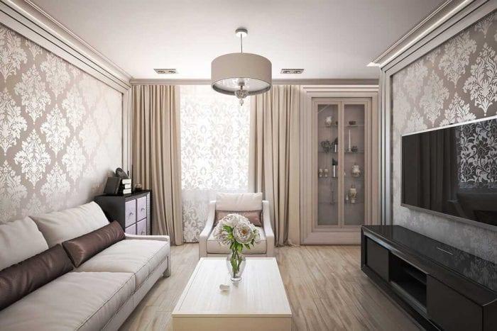 идея светлого дизайна квартиры в стиле современная классика