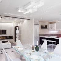 вариант яркого декора комнаты в светлых тонах в современном стиле фото