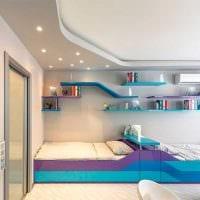 вариант красивого интерьера детской комнаты для двух мальчиков фото