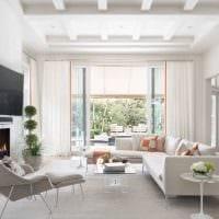 вариант светлого стиля гостиной в современном стиле картинка