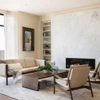 идея необычного дизайна гостиной комнаты в современном стиле фото