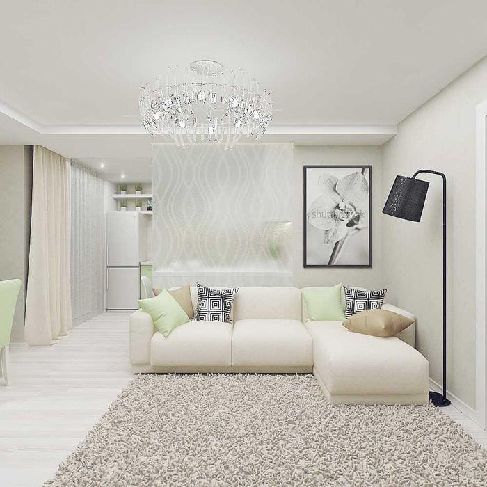 идея светлого стиля комнаты в светлых тонах в современном стиле