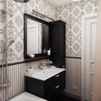 идея светлого декора ванной в классическом стиле фото