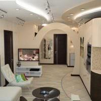 вариант светлого интерьера гостиной комнаты в современном стиле картинка