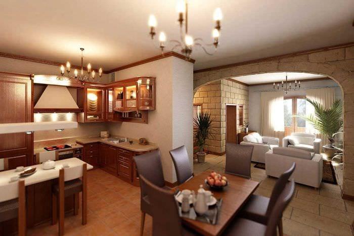необходимо выделить кухня зал частный дом фото бесплатно широкоформатные обои
