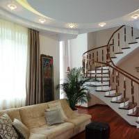 идея красивого интерьера гостиной в частном доме фото