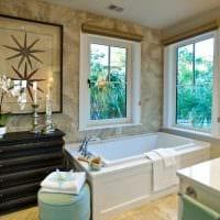 идея яркого дизайна большой ванной комнаты фото